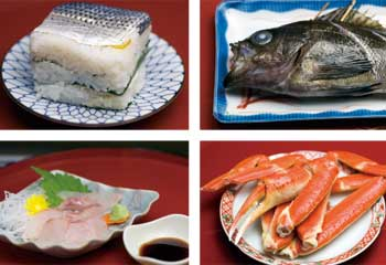 能登のお魚料理の数々