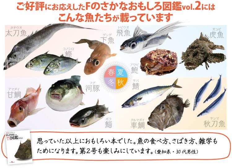 Fのさかなおもしろ図鑑 掲載魚種