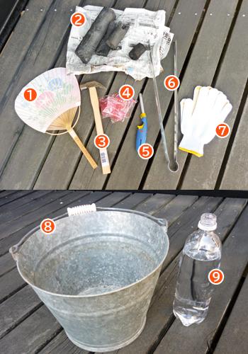 珪藻土七輪で準備するもの