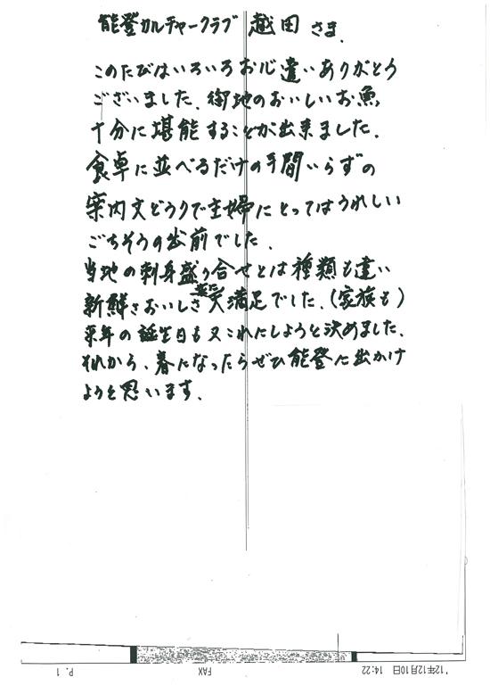 2012.12.10 静岡県浜松市 Kさま より